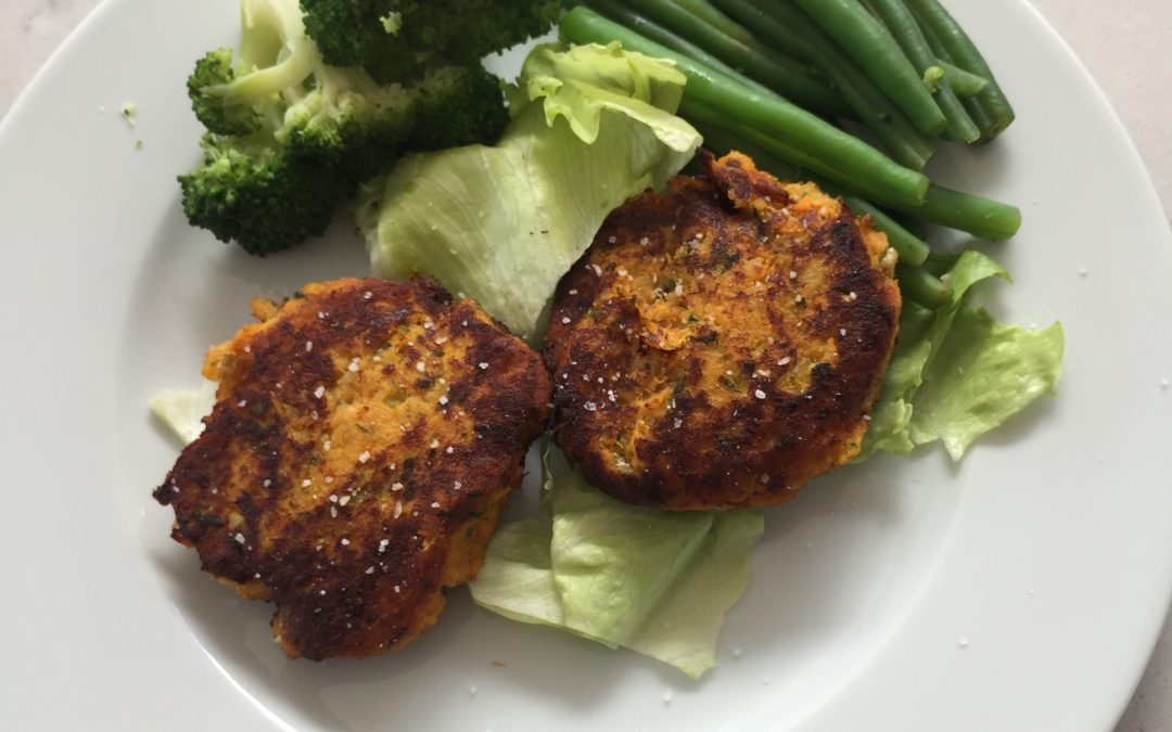 Sweet Potato, Spinach, Kale and Cod Fishcakes