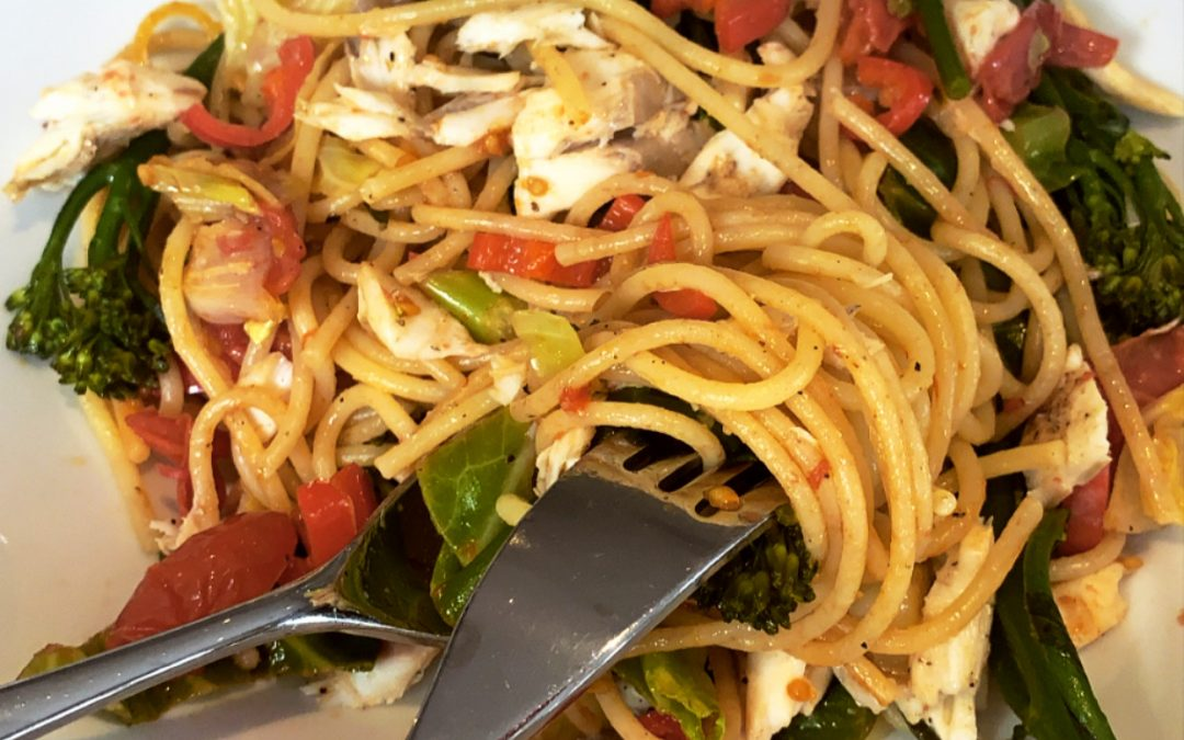Sea Bass Spaghetti