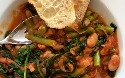 Bean, Tomato & Spinach Stew