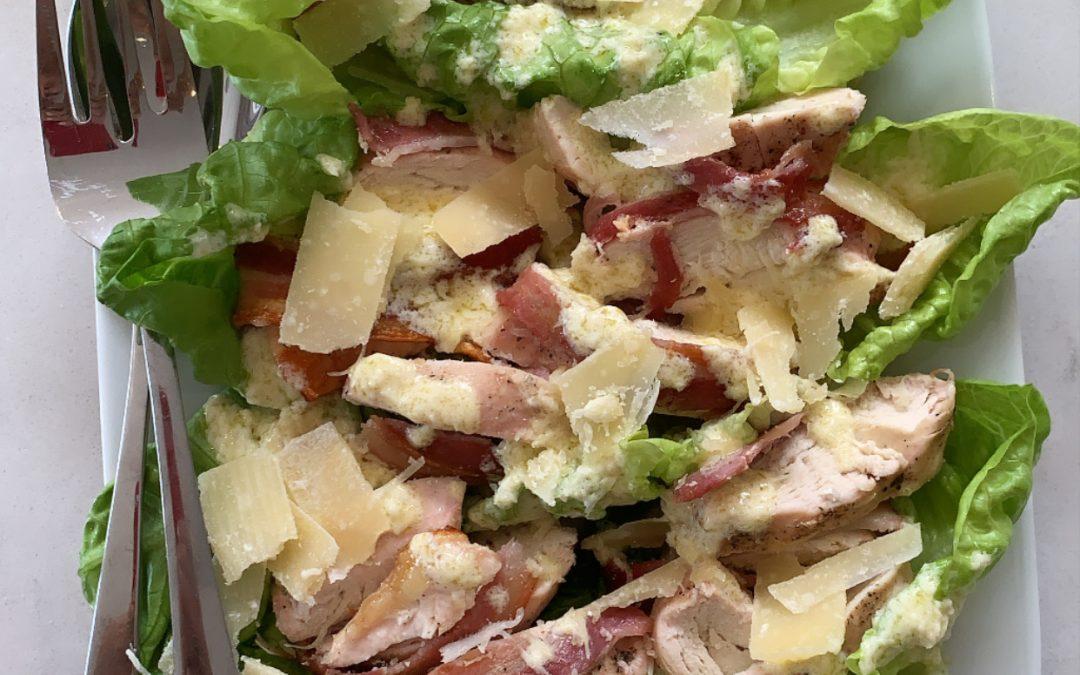 Quick Chicken & Bacon Caesar Salad