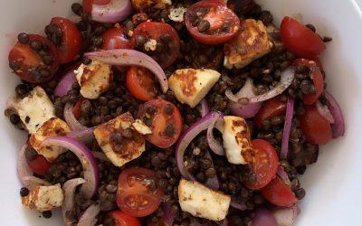Puy Lentil, Cherry Tomato & Halloumi Salad