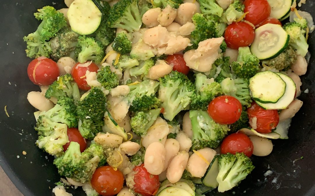 Garlicky Broccoli and Butter Beans