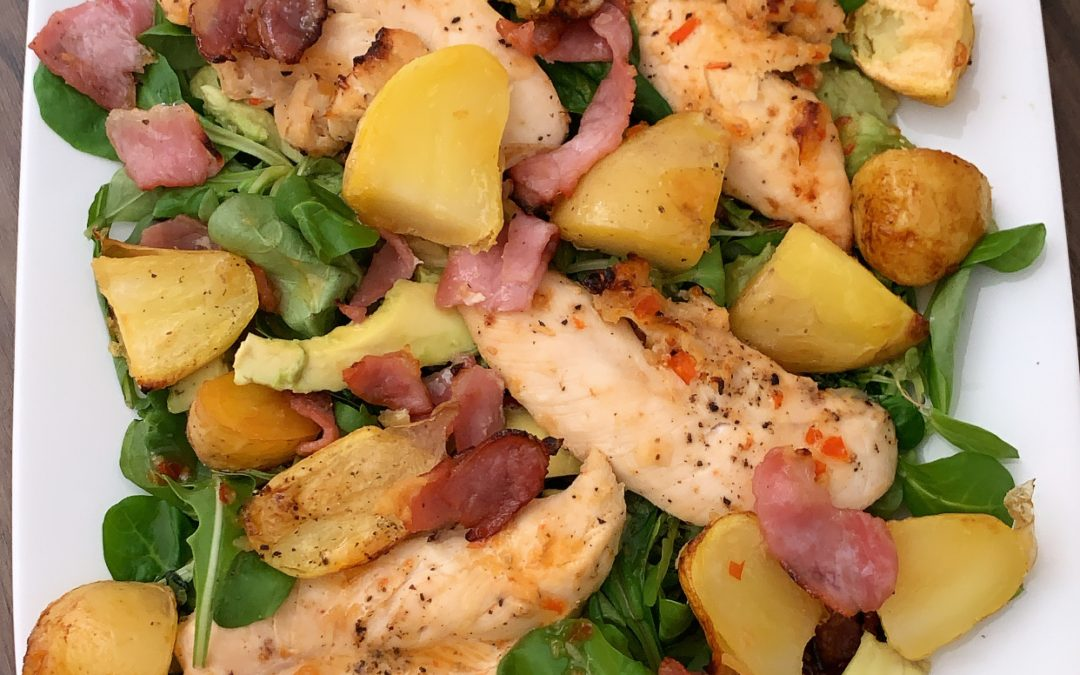 Chilli Chicken and Bacon Salad